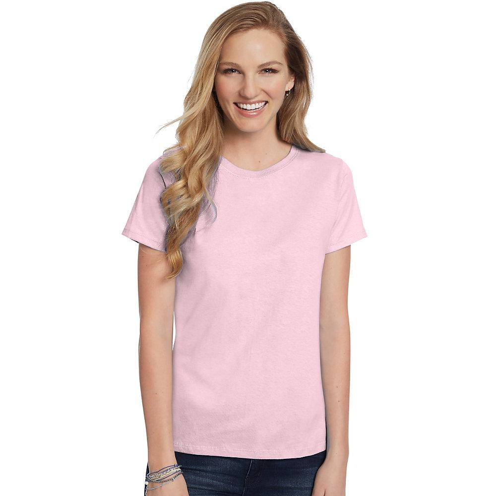 Hanes-Women-039-s-Relaxed-Fit-Jersey-ComfortSoft-Crewneck-T-Shirt-S thumbnail 47