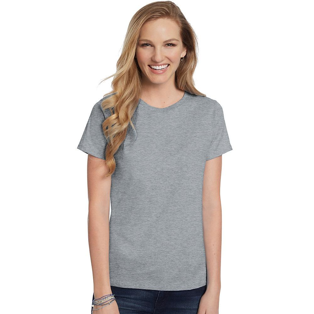 Hanes-Women-039-s-Relaxed-Fit-Jersey-ComfortSoft-Crewneck-T-Shirt-S thumbnail 59