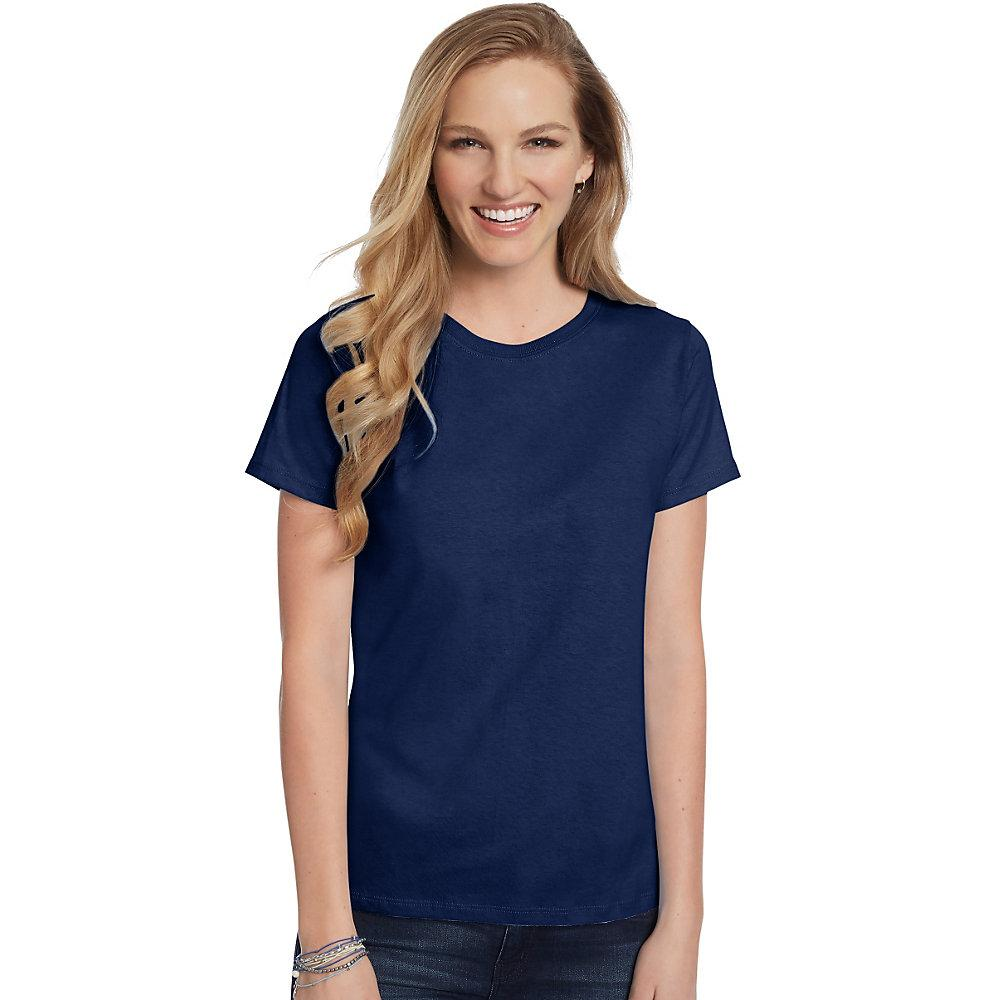 Hanes-Women-039-s-Relaxed-Fit-Jersey-ComfortSoft-Crewneck-T-Shirt-S thumbnail 69