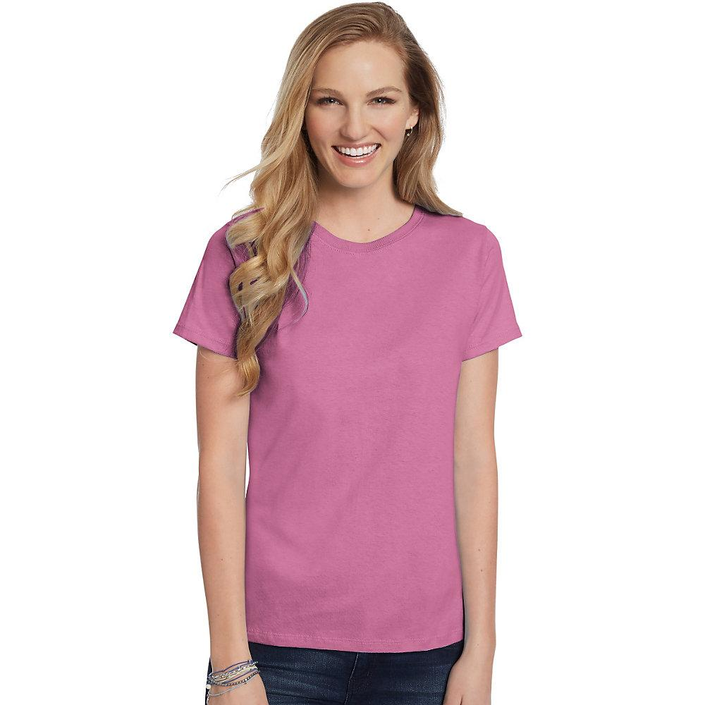 Hanes-Women-039-s-Relaxed-Fit-Jersey-ComfortSoft-Crewneck-T-Shirt-S thumbnail 39