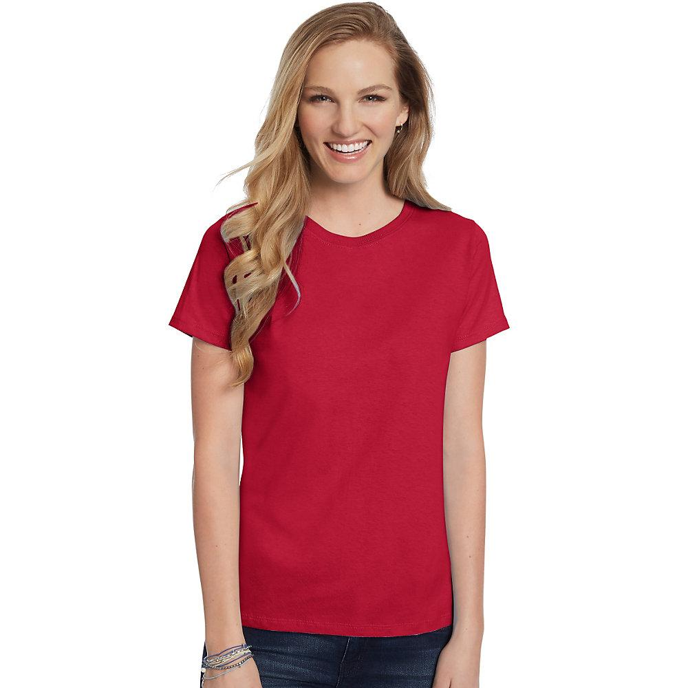 Hanes-Women-039-s-Relaxed-Fit-Jersey-ComfortSoft-Crewneck-T-Shirt-S thumbnail 36