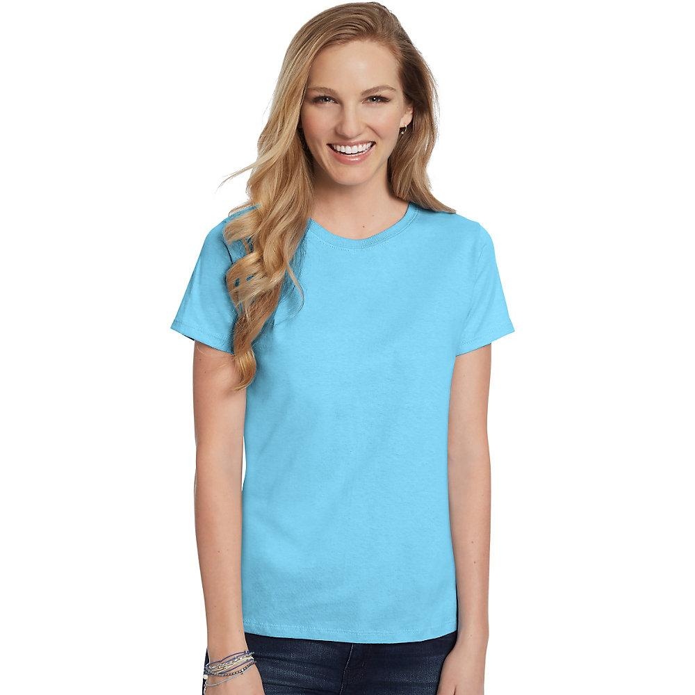 Hanes-Women-039-s-Relaxed-Fit-Jersey-ComfortSoft-Crewneck-T-Shirt-S thumbnail 29