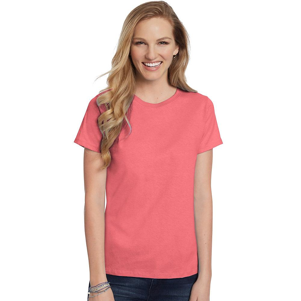 Hanes-Women-039-s-Relaxed-Fit-Jersey-ComfortSoft-Crewneck-T-Shirt-S thumbnail 19
