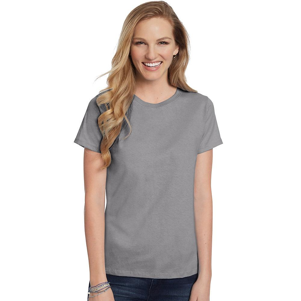 Hanes-Women-039-s-Relaxed-Fit-Jersey-ComfortSoft-Crewneck-T-Shirt-S thumbnail 112