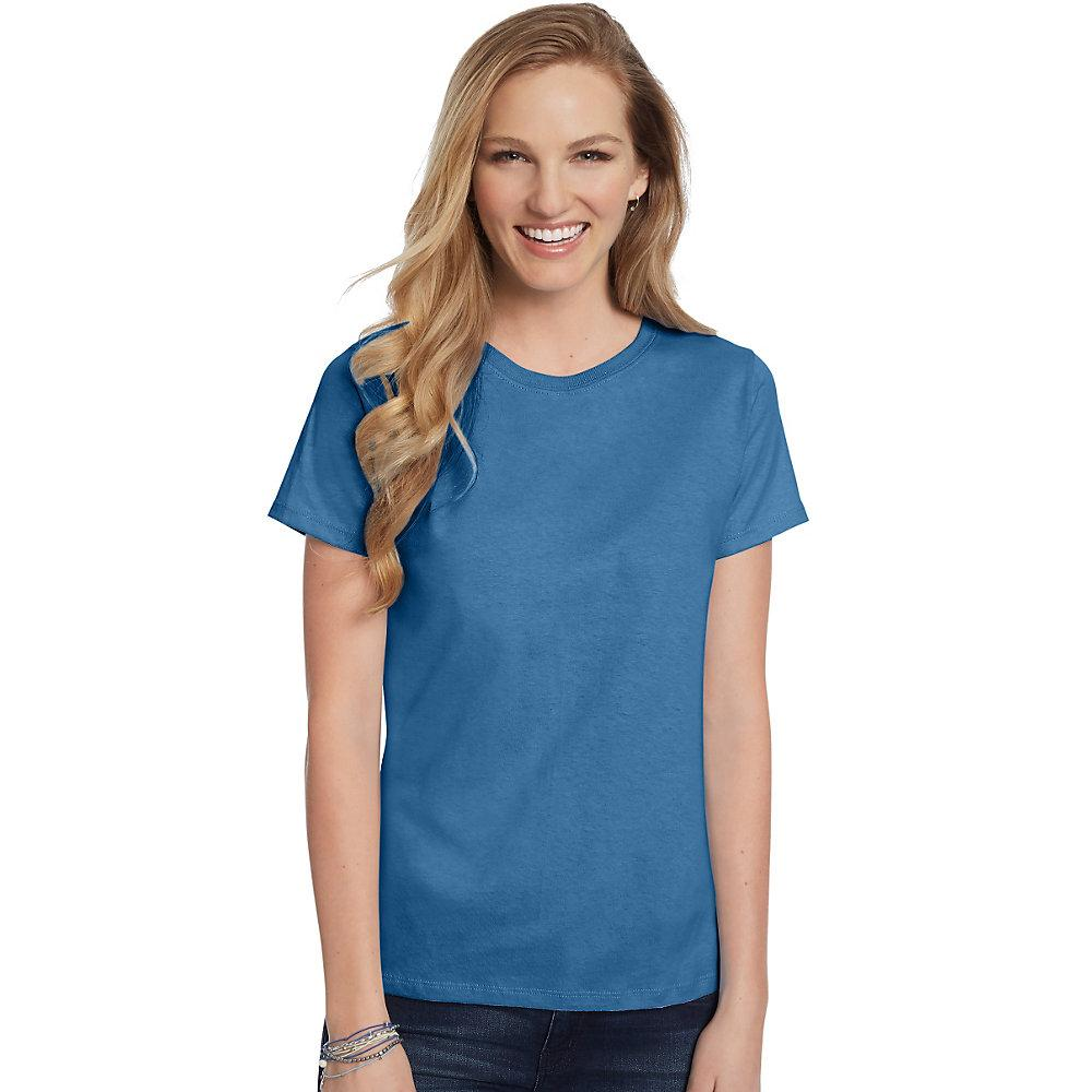 Hanes-Women-039-s-Relaxed-Fit-Jersey-ComfortSoft-Crewneck-T-Shirt-S thumbnail 3