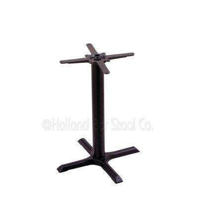 211 Black Cast Iron Table Height Base with 22