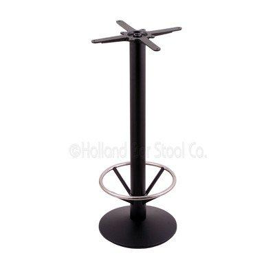 214 Black Cast Iron Bar Height Base with 16