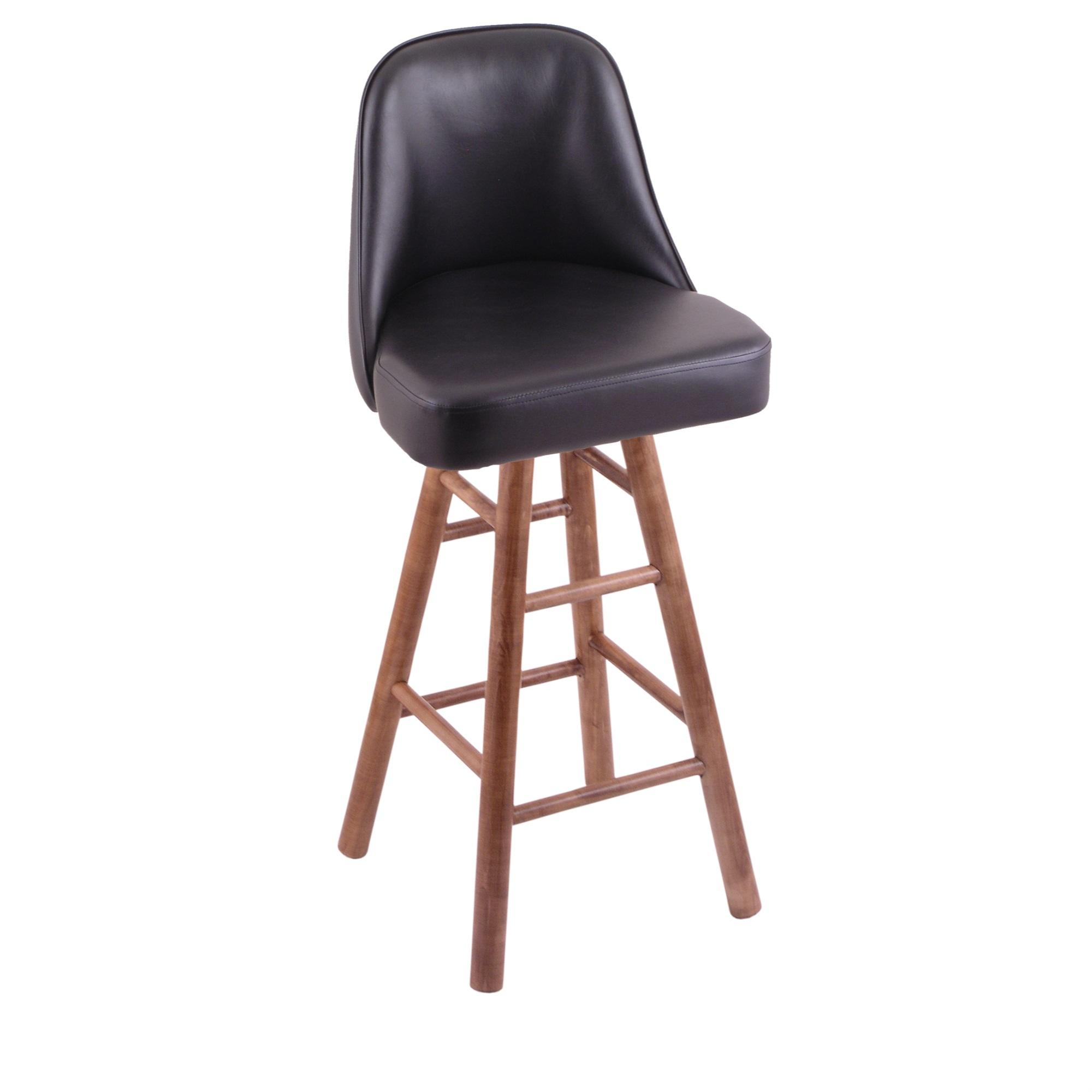 Grizzly Counter Stool with Smooth Maple Legs, Medium Finish, and 360 Swivel