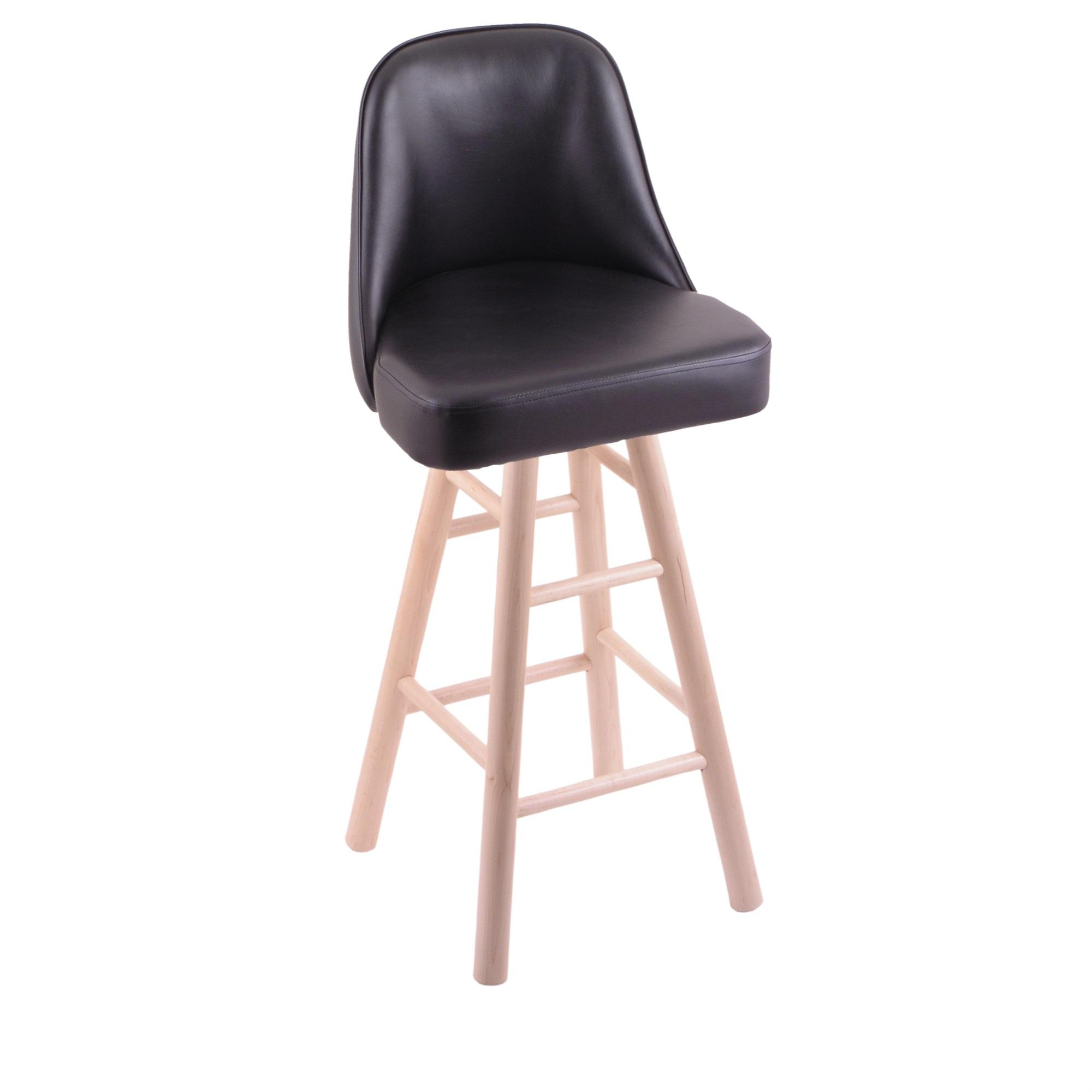 Grizzly Bar Stool with Smooth Maple Legs, Natural Finish, and 360 Swivel