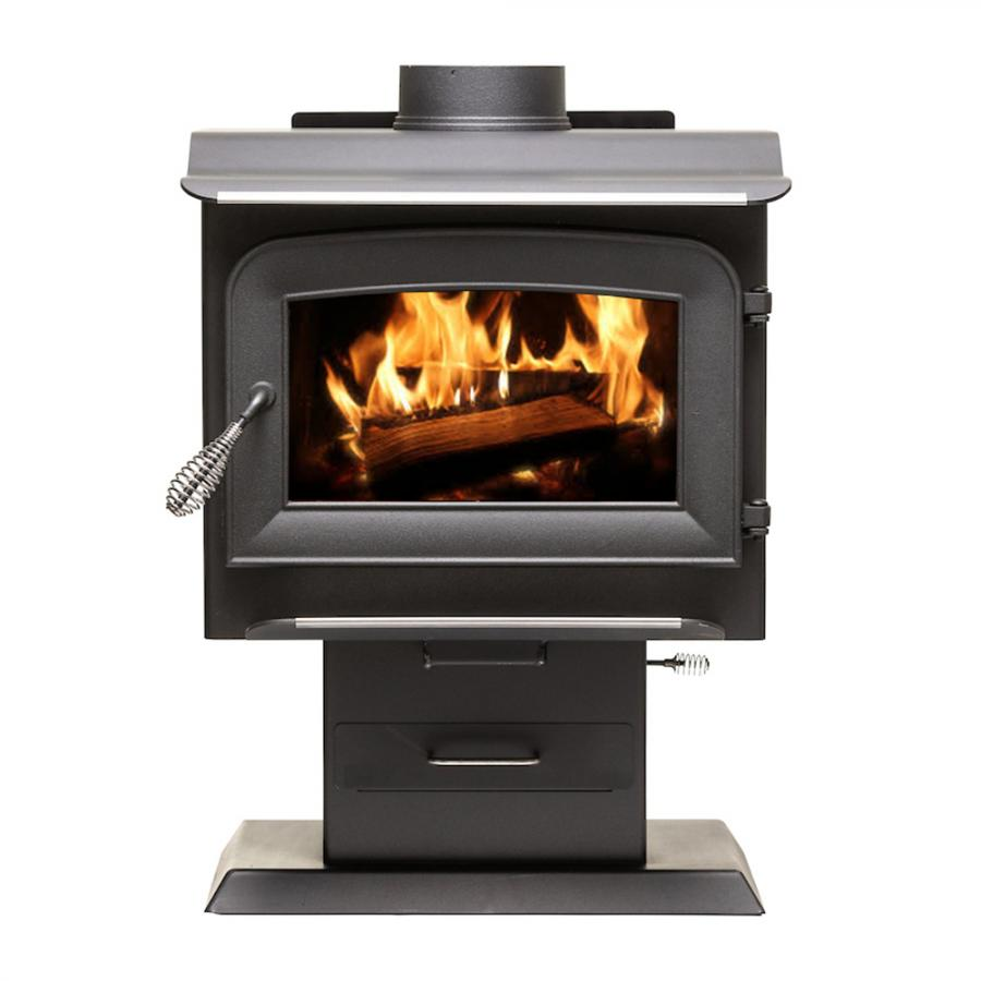 1,200 Sq. Ft. Pedestal Wood Stove - 2020 EPA Certified