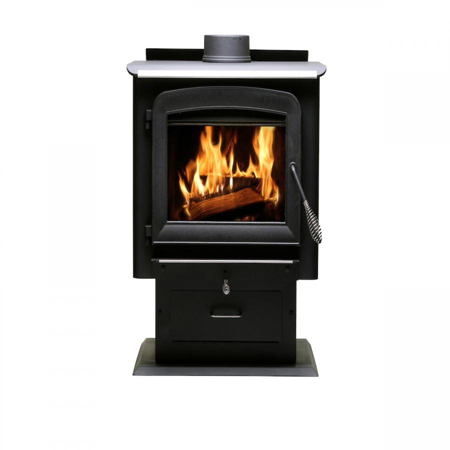 2,000 Sq. Ft. Pedestal Wood Stove - 2020 EPA Certified