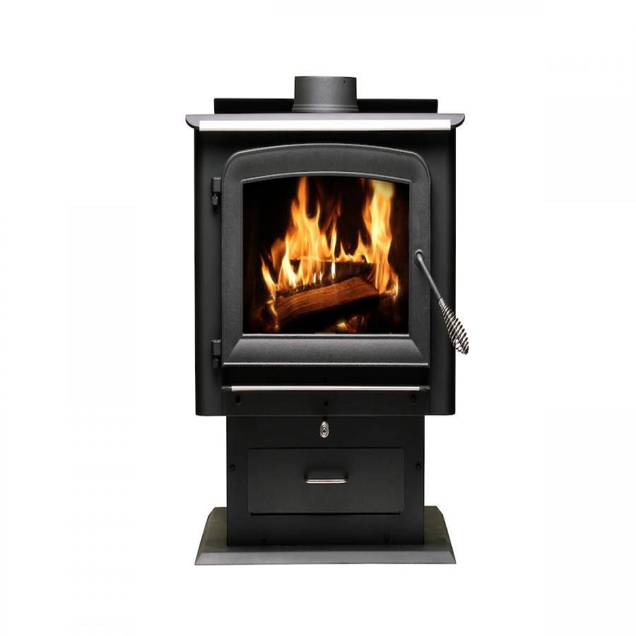 2,500 Sq. Ft. Pedestal Wood Stove - 2020 EPA Certified