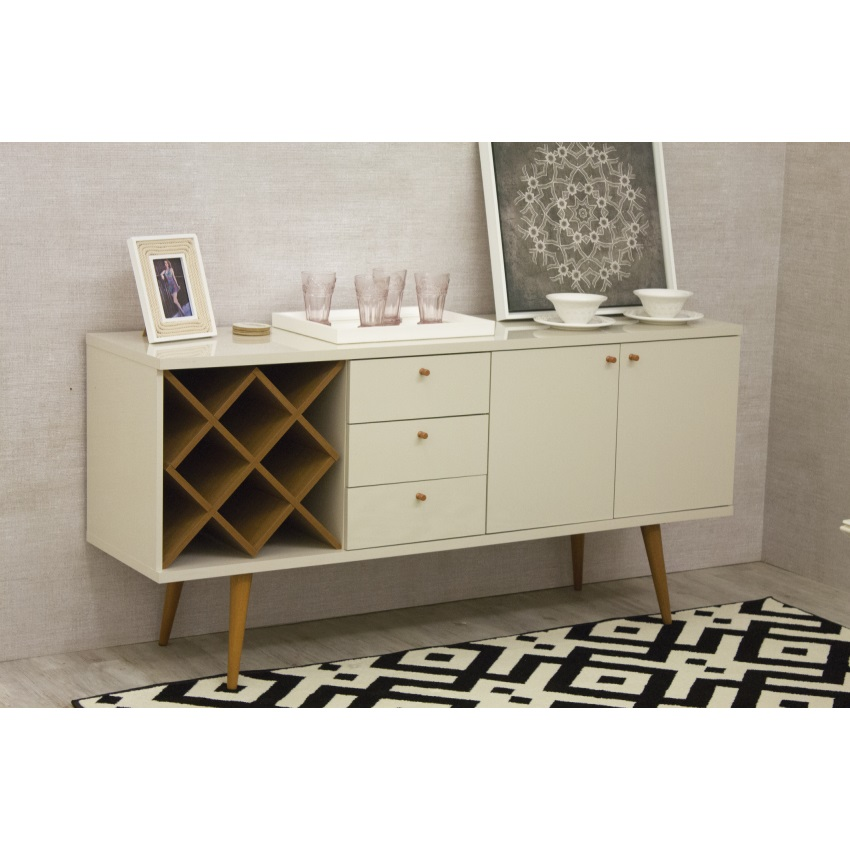 Utopia 4 Bottle Wine Rack Sideboard Buffet Stand with 3 Drawers and 2 Shelves eBay